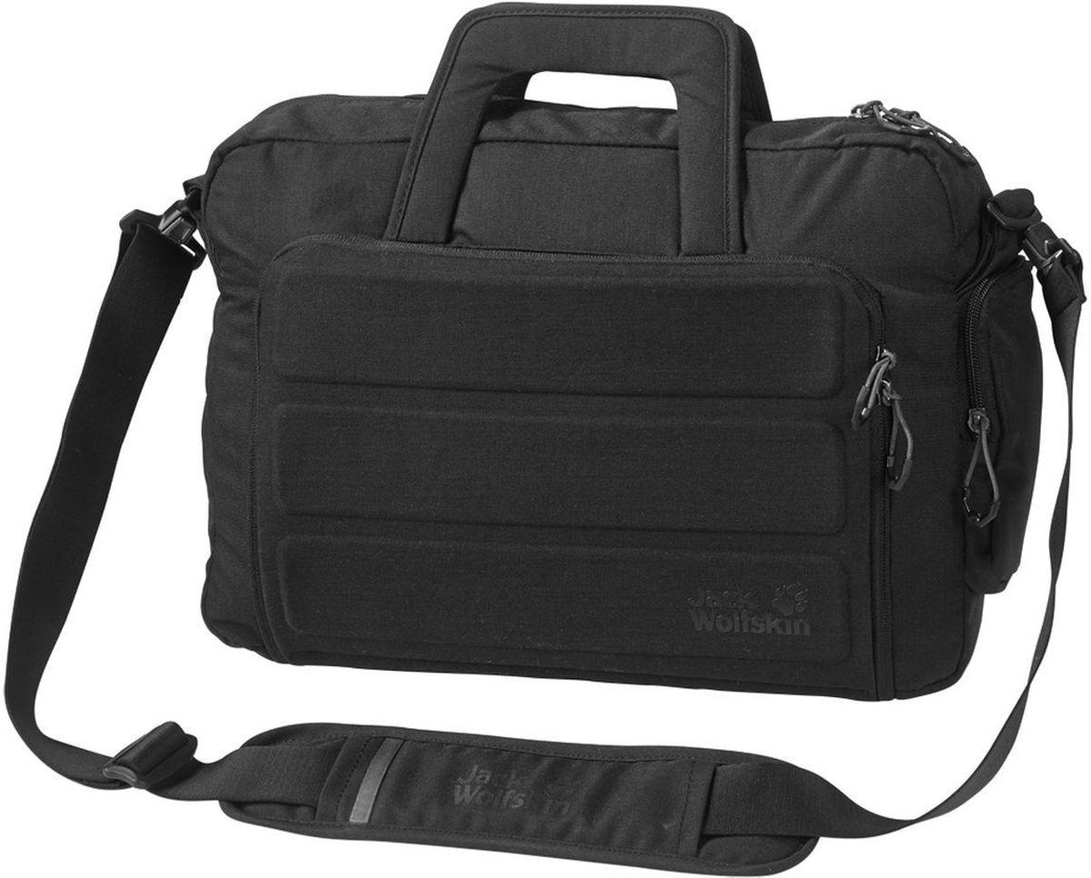 Сумка городская Jack Wolfskin Werrington, цвет: черный, 12 л2005041-6000Универсальная сумка для ноутбука в городском стиле