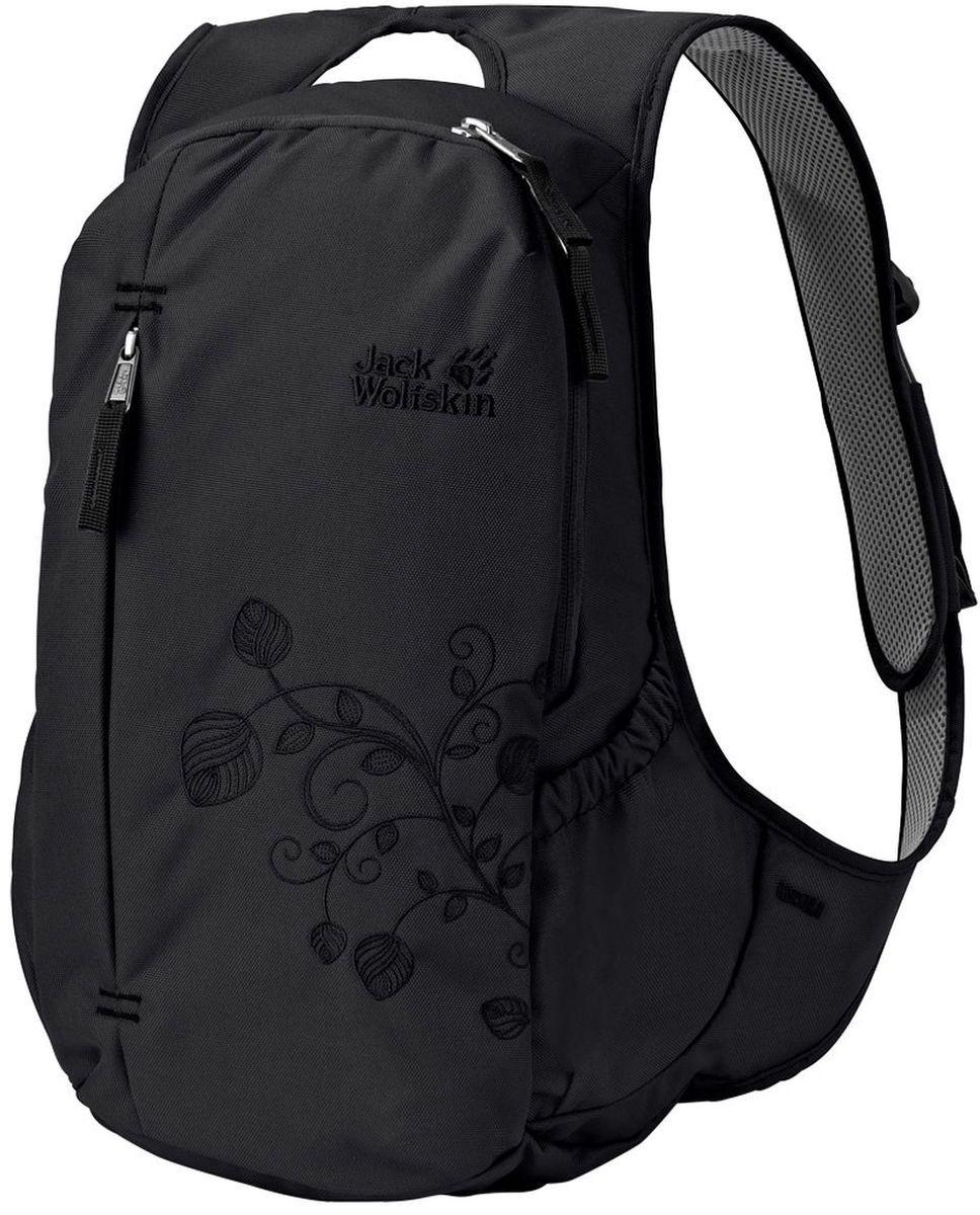 Рюкзак городской женский Jack Wolfskin Ancona, цвет: черный, 14 л2005321-6000Изящно скроенный женский городской рюкзак