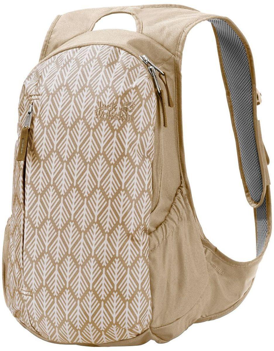 Рюкзак городской женский Jack Wolfskin Ancona, цвет: бежевый, 14 л2005321-7938Изящно скроенный женский городской рюкзак