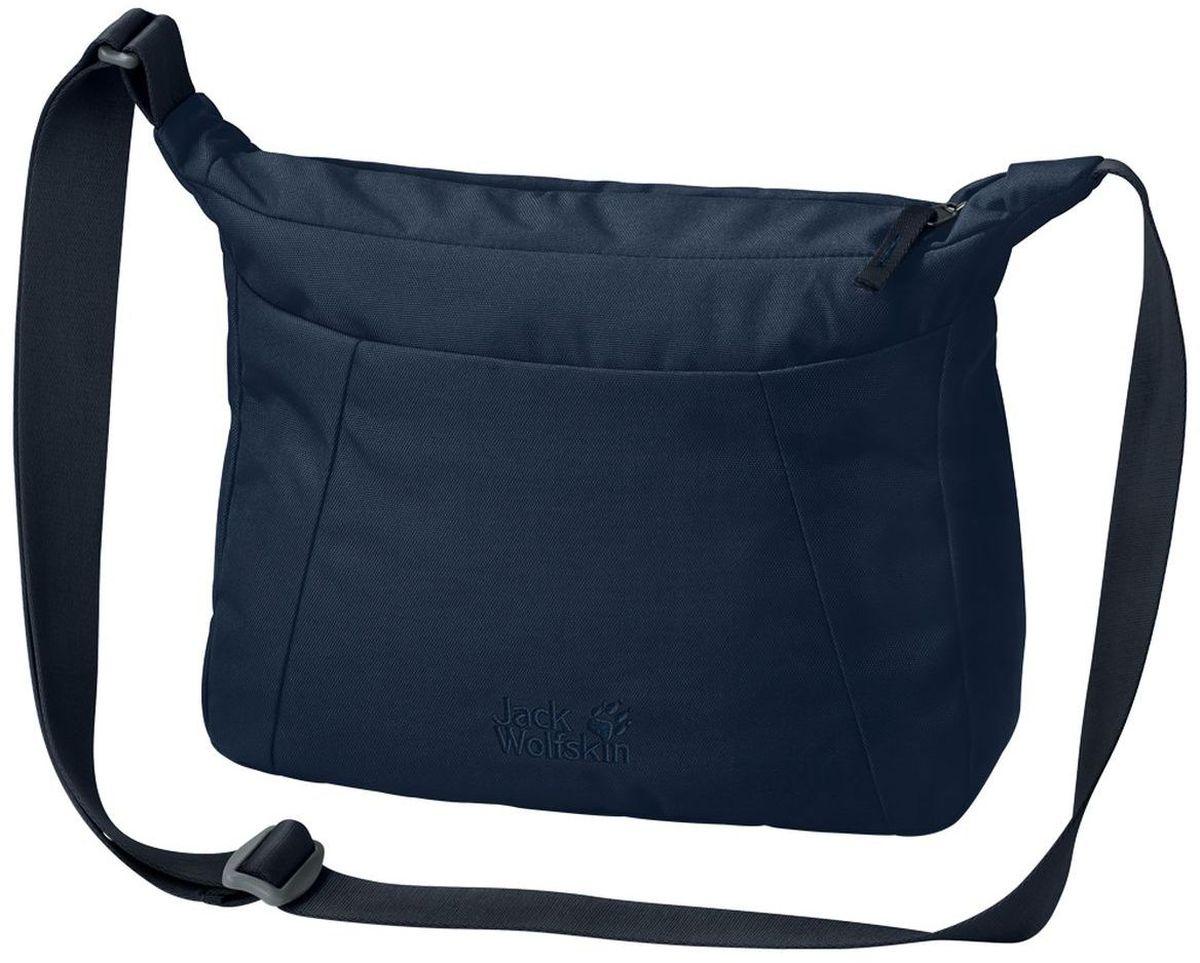 Сумка женская Jack Wolfskin Valparaiso Bag, цвет: темно-синий, 8 л2005501-1910Наплечная сумка для ежедневного ношения и путешествий со скрытым карманом на молнии