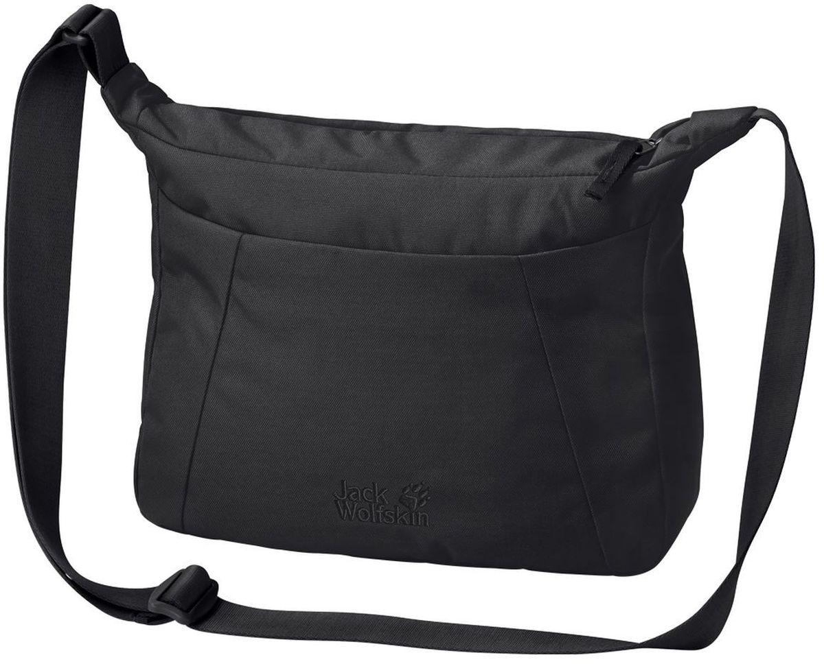 Сумка женская Jack Wolfskin Valparaiso Bag, цвет: черный, 8 л2005501-6000Наплечная сумка для ежедневного ношения и путешествий со скрытым карманом на молнии