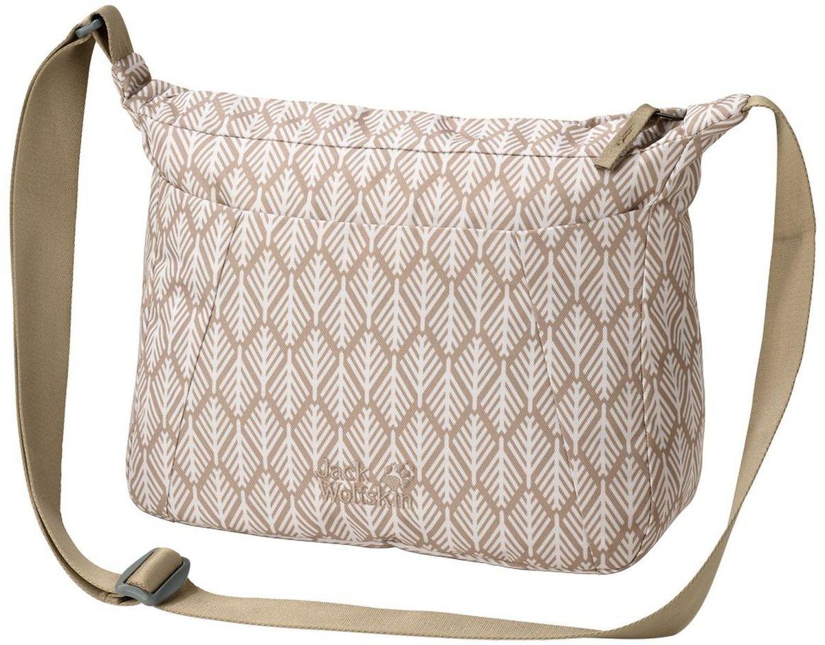 Сумка женская Jack Wolfskin Valparaiso Bag, цвет: бежевый, 8 л2005501-7938Наплечная сумка для ежедневного ношения и путешествий со скрытым карманом на молнии