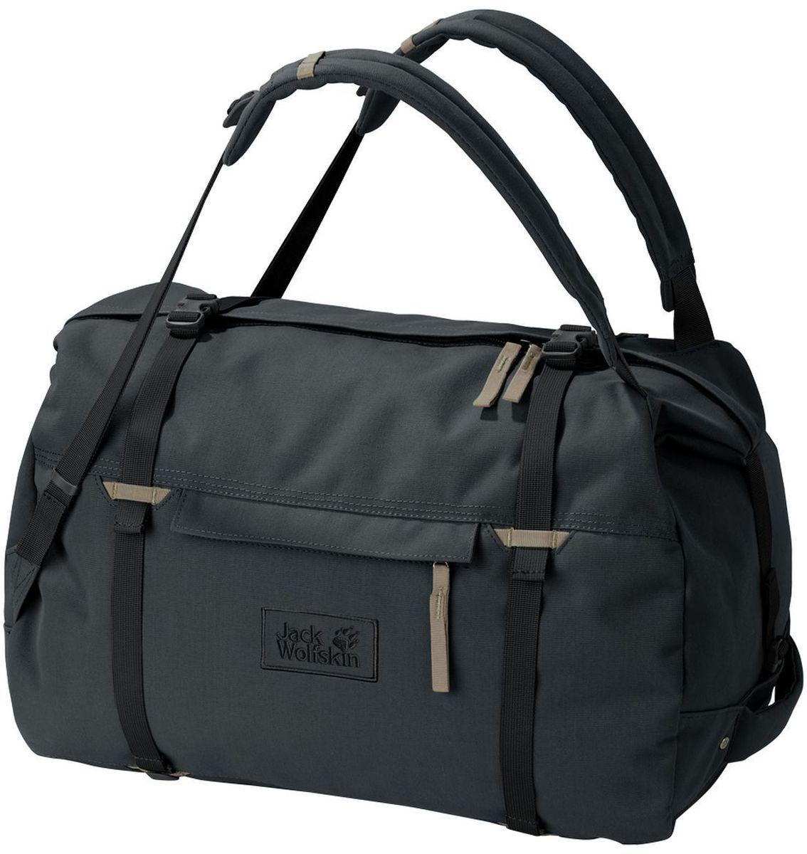 Сумка-рюкзак Jack Wolfskin Roamer 80 Duffle, цвет: темно-серый, 80 л2005671-6350Очень большая и прочная сумка для путешествий с возможность ношения как рюкзак