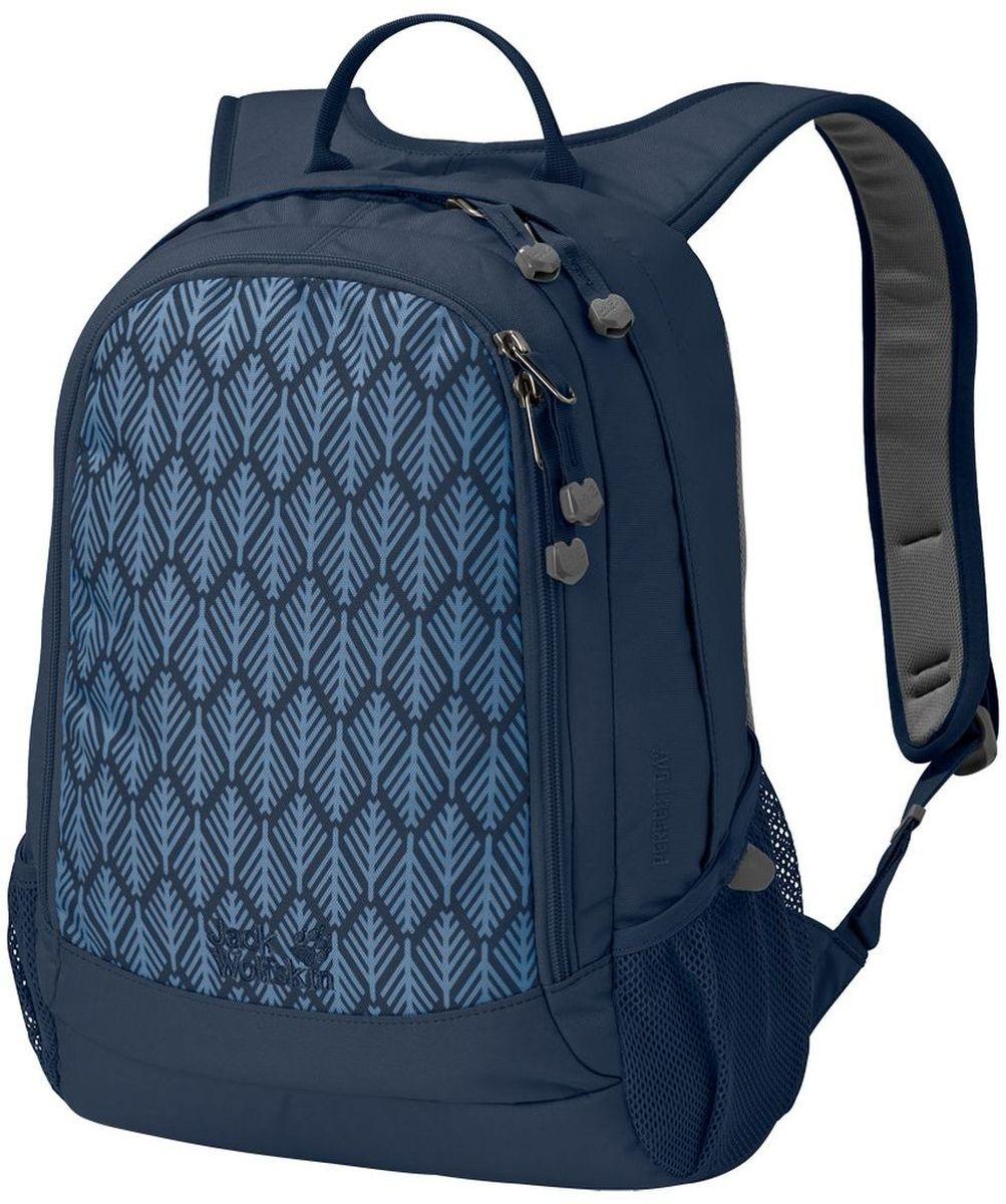 Рюкзак Jack Wolfskin Perfect Day, цвет: синий. 24040-793724040-7937Удобный классический рюкзак Jack Wolfskin выполнен из прочного износостойкого текстиля. Городской рюкзак подходит не только для коротких прогулок, но и для работы или учебы. Удобная система подвески Snuggle Up, широкие плечевые ремни для удобства и комфорта. Смягчающие подушки на плечевых ремнях для оптимального распределения веса между плечами и частью спины ниже шеи. В основном отделении, широко открывающимся по кругу, разместятся документы формата А4 и книги, а мелкие предметы от флеш-карты до ручки удобно разложить в переднем кармане.