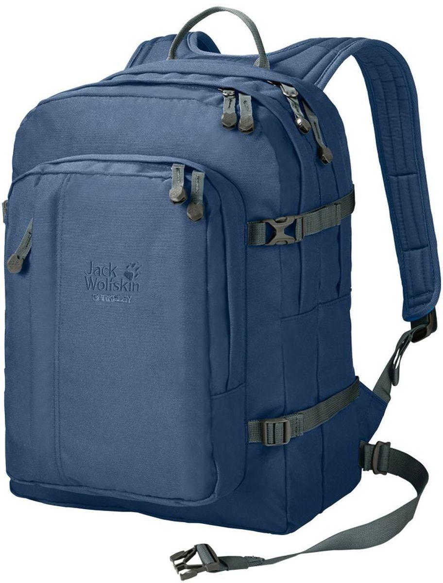 Рюкзак городской Jack Wolfskin Berkeley, цвет: синий, 30 л25300-1588Классический школьный рюкзак с вместительными отделениями, подходящими для формата DIN A4