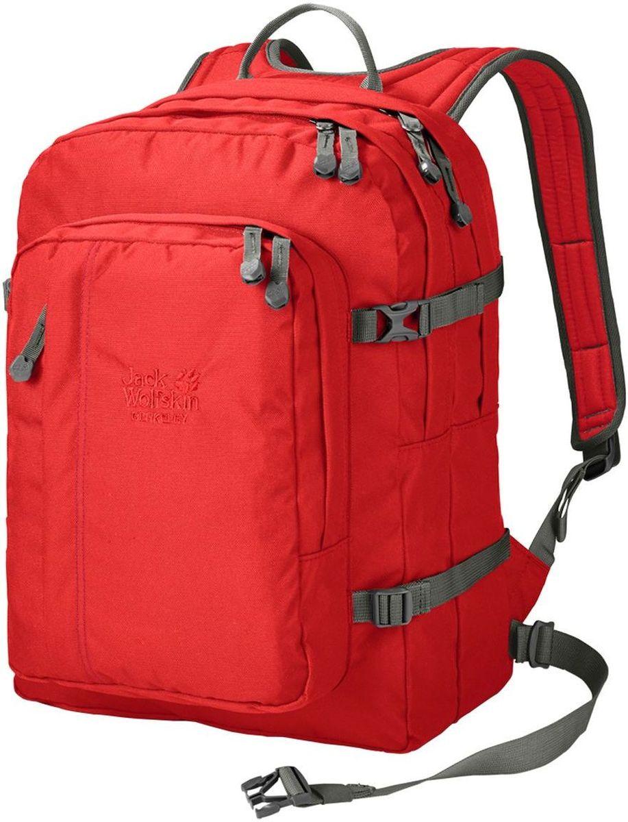 Рюкзак городской Jack Wolfskin Berkeley, цвет: красный, 30 л25300-2681Классический школьный рюкзак с вместительными отделениями, подходящими для формата DIN A4