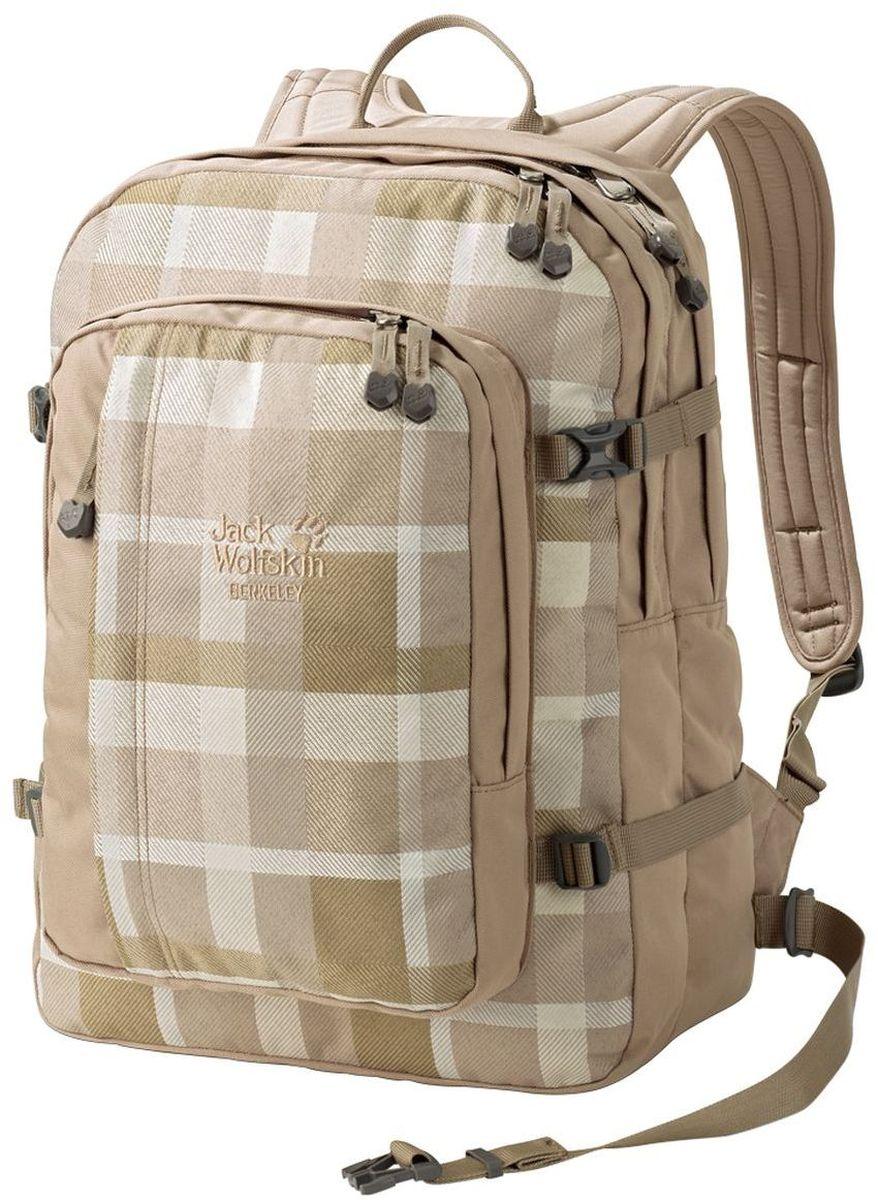 Рюкзак городской Jack Wolfskin Berkeley, цвет: бежевый, 30 л25300-7951Классический школьный рюкзак с вместительными отделениями, подходящими для формата DIN A4