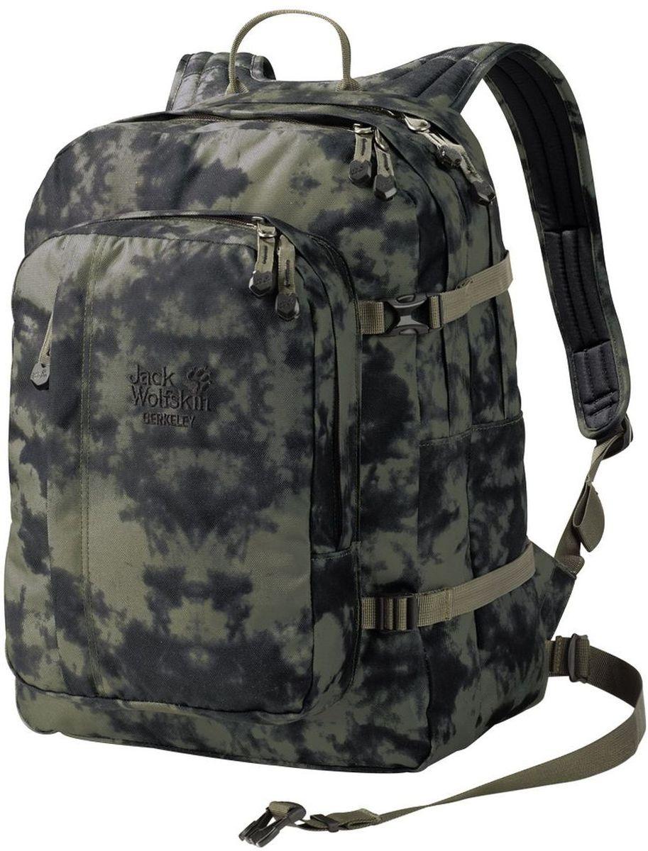 Рюкзак городской Jack Wolfskin Berkeley, цвет: хаки, 30 л25300-7957Классический школьный рюкзак с вместительными отделениями, подходящими для формата DIN A4