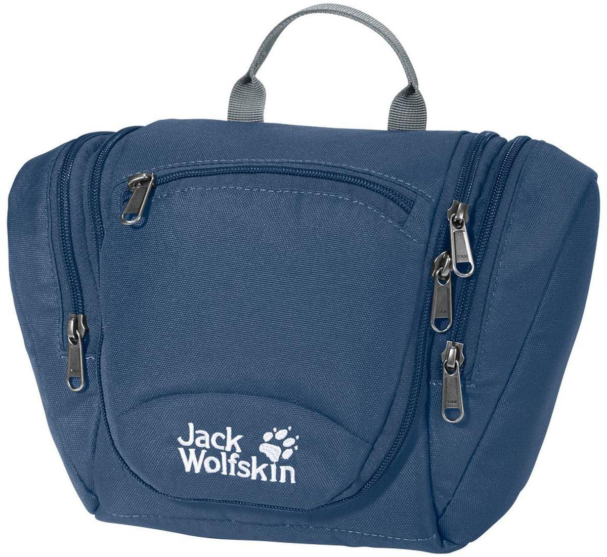 Нессесер женский Jack Wolfskin Caddie, цвет: синий, 5 л8001211-1588Большой несессер со съемной косметичкой