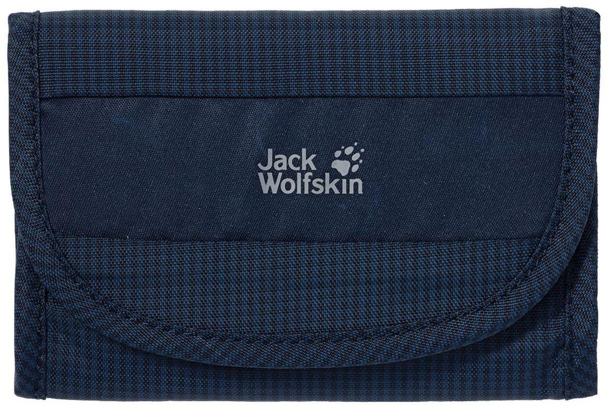 Кошелек Jack Wolfskin Cashbag Wallet Rfid, цвет: темно-синий, 9 х 13,5 см8002281-1010Складной кошелек на липучке с защитой от нежелательного считывания RFID-кодировки