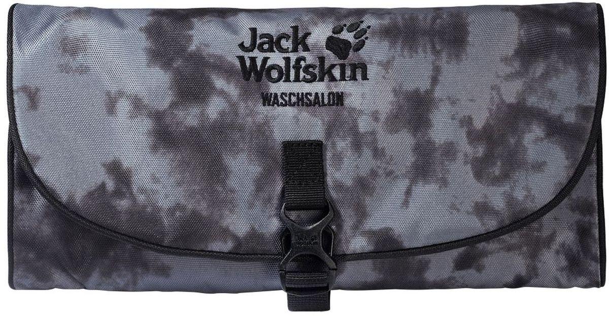 Нессесер Jack Wolfskin Waschsalon, цвет: серый. 86130-795586130-7955Несессер от Jack Wolfskin идеально подходит для путешествий и поездок выходного дня. Модель выполнена из плотного текстиля. Модель застегивается на клапан с фастексом. Два внутренних кармана на молнии, два кармана на липучке, два кармана без застежки, съемное зеркальце на липучке, крючок для подвешивания.