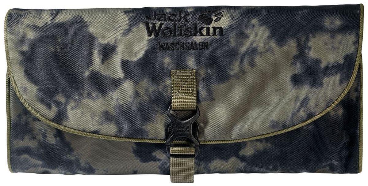 Нессесер Jack Wolfskin Waschsalon, цвет: хаки. 86130-795786130-7957Несессер от Jack Wolfskin идеально подходит для путешествий и поездок выходного дня. Модель выполнена из плотного текстиля. Модель застегивается на клапан с фастексом. Два внутренних кармана на молнии, два кармана на липучке, два кармана без застежки, съемное зеркальце на липучке, крючок для подвешивания.