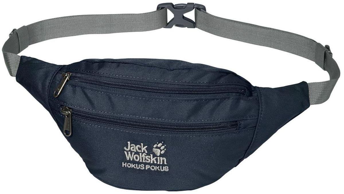 Сумка поясная Jack Wolfskin Hokus Pokus, цвет: темно-синий, 2 л86472-1010Компактная поясная сумка с потайным карманом