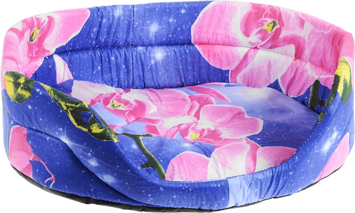 Лежак для животных Elite Valley, цвет: фиолетовый, розовый, 55 х 40 х 18,5 смЛ1/4 Лежак открытый _ орхидея на фиолетовом материал бязь, поролонЛежак Elite Valley обязательно понравится вашему питомцу. Изделие выполнено из бязи (100% хлопка) и нетканого волокна, а наполнитель - из поролона. Такой материал не теряет своей формы долгое время. Внутри имеется мягкая съемная подстилка. Лежак Elite Valley обеспечит вашему любимцу уют, подарит спокойный и комфортный сон, а также убережет вашу мебель от многочисленной шерсти.