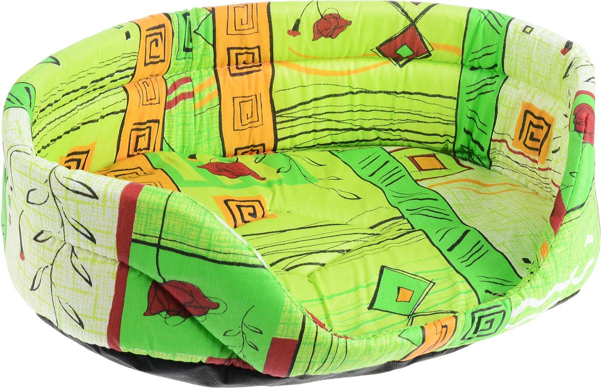 Лежак для животных Elite Valley, цвет: зеленый, оранжевый, 49 х 36 х 15 смЛ1/3 Лежак открытый _ стамбул зеленый материал бязь, поролонЛежак Elite Valley обязательно понравится вашему питомцу. Изделие выполнено из бязи (100% хлопка) и нетканого волокна, а наполнитель - из поролона. Такой материал не теряет своей формы долгое время. Внутри имеется мягкая съемная подстилка. Лежак Elite Valley обеспечит вашему любимцу уют, подарит спокойный и комфортный сон, а также убережет вашу мебель от многочисленной шерсти.