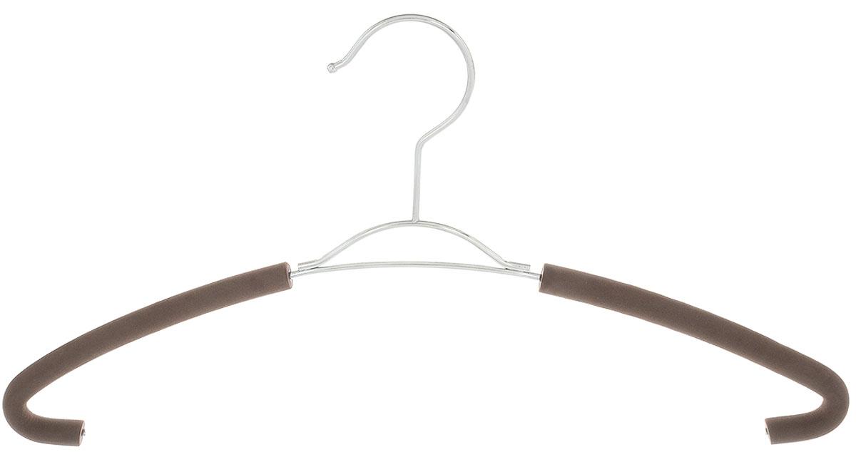 Вешалка для рубашек Attribute Hanger Eva, цвет: кофейный, длина 41 смAHM771Вешалка для рубашек Attribute Hanger Eva выполнена из качественной стали, плечики обтянуты поролоном. Вешалка - это незаменимая вещь для того, чтобы ваша одежда всегда оставалась в хорошем состоянии. Длина вешалки: 41 см.