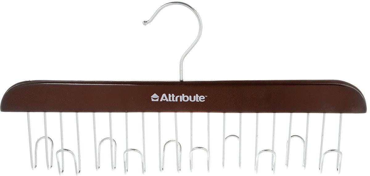 Вешалка для ремней Attribute Hanger, цвет: красное дерево, длина 32,5 смAHR861