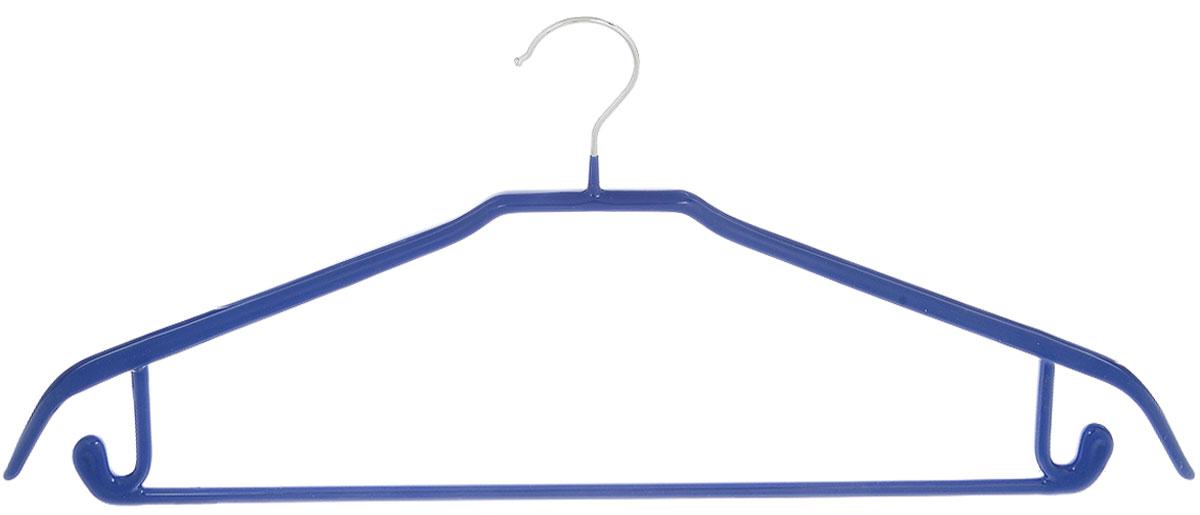 Вешалка универсальная Attribute Hanger Neo, цвет: синий, длина 43 смAHS721Вешалка Attribute Hanger Neo изготовлена из качественной стали с антискользящим покрытием из ПВХ. Изделие оснащено перекладиной и боковыми крючками. Вешалка - это незаменимая вещь для того, чтобы одежда всегда оставалась в хорошем состоянии и имела опрятный вид. Длина вешалки: 43 см.
