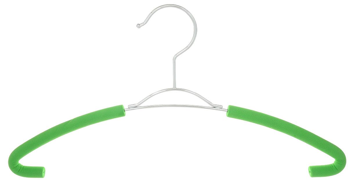 Вешалка для рубашек Attribute Hanger Eva, цвет: зеленый, длина 41 смAHM751Вешалка для рубашек Attribute Hanger Eva выполнена из качественной стали, плечики обтянуты поролоном. Вешалка - это незаменимая вещь для того, чтобы ваша одежда всегда оставалась в хорошем состоянии. Длина вешалки: 41 см.