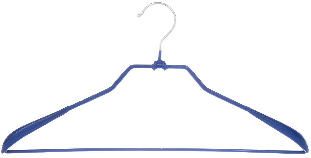 Вешалка для верхней одежды Attribute Hanger Neo, цвет: синий, длина 45 смAHS711Вешалка для верхней одежды Attribute Hanger Neo изготовлена из качественной стали с антискользящим покрытием из ПВХ. Изделие оснащено перекладиной. Вешалка - это незаменимая вещь для того, чтобы одежда всегда оставалась в хорошем состоянии и имела опрятный вид. Длина вешалки: 45 см.