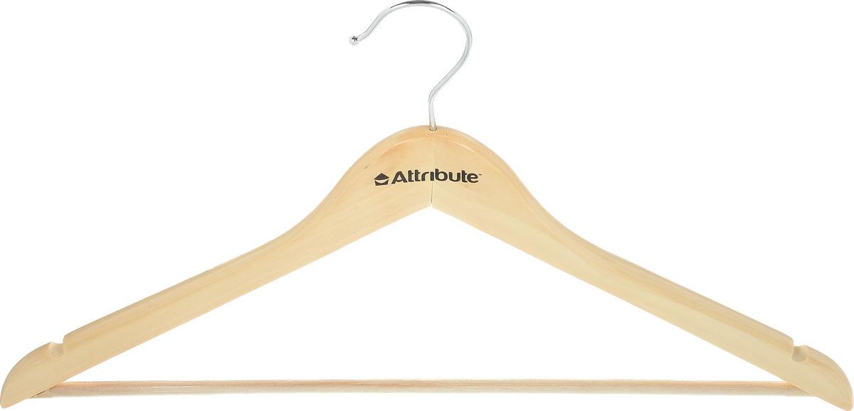 Вешалка универсальная Attribute Hanger Classic, цвет: бежевый, длина 44 смAHN221Универсальная вешалка для одежды Attribute Hanger Classic выполнена из дерева и оснащена перекладиной с нескользящим покрытием. Вешалка - это незаменимая вещь для того, чтобы ваша одежда всегда оставалась в хорошем состоянии. Длина вешалки: 44 см.