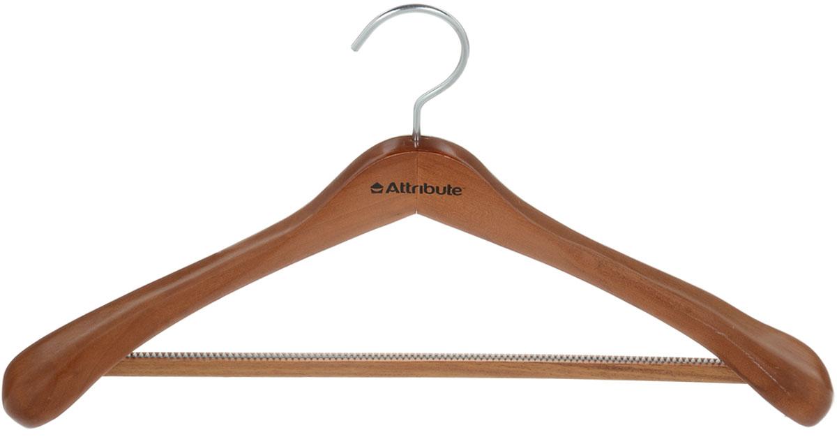 Вешалка для верхней одежды Attribute Hanger, цвет: орех, длина 46,5 смAHO501Вешалка для верхней одежды Attribute Hanger выполнена из дерева и оснащена перекладиной с нескользящим ПВХ-покрытием. Вешалка - это незаменимая вещь для того, чтобы ваша одежда всегда оставалась в хорошем состоянии. Длина вешалки: 46,5 см.