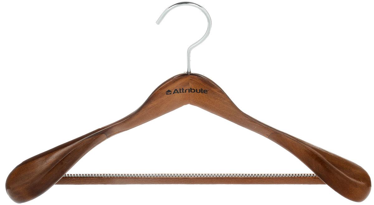 Вешалка для верхней одежды Attribute Hanger, цвет: орех, длина 45 смAHO511Вешалка для верхней одежды Attribute Hanger выполнена из дерева и оснащена перекладиной с нескользящим ПВХ-покрытием. Вешалка - это незаменимая вещь для того, чтобы ваша одежда всегда оставалась в хорошем состоянии. Длина вешалки: 45 см.