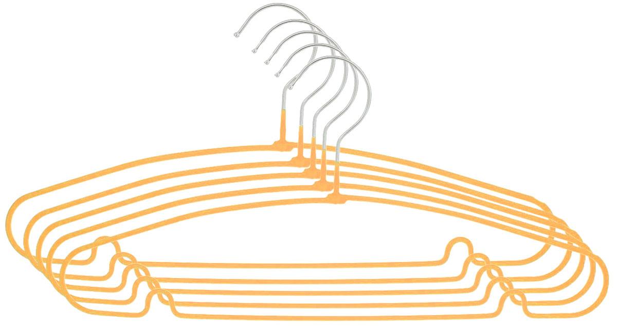 Вешалка Attribute Hanger Home, цвет: оранжевый, длина 40 см, 5 штAHS154_оранжевыйНабор вешалок Attribute Hanger Home выполнен из стали, обтянутой материалом из ПВХ. Вешалка - это незаменимая вещь для того, чтобы ваша одежда всегда оставалась в хорошем состоянии. Длина вешалки: 40 см.
