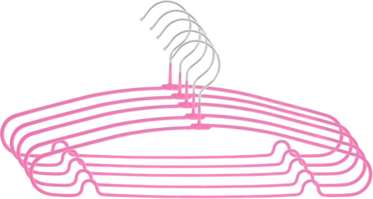 Вешалка Attribute Hanger Home, цвет: розовый, длина 40 см, 5 штAHS154_розовыйНабор вешалок Attribute Hanger Home выполнен из стали, обтянутой материалом из ПВХ. Вешалка - это незаменимая вещь для того, чтобы ваша одежда всегда оставалась в хорошем состоянии. Длина вешалки: 40 см.