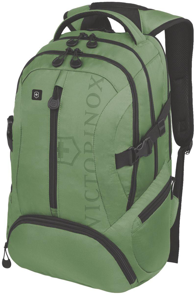 Рюкзак городской Victorinox VX Sport Scout, цвет: зеленый, 20 л + ПОДАРОК: нож-брелок Escort31105106Коллекция VX Sport сочетает в себе культовый дизайн и прочную конструкцию.Основанные на многогранной функциональности,которая присуща оригинальному швейцарскому армейскому ножу,рюкзаки этой коллекции обеспечивают защиту современным технологическим устройствам и многофункциональную организацию вещей таким образом,что вы будете готовы к любой ситуации. VICTORINOX арт. 31105006 РЮКЗАК ДЛЯ НОУТБУКА ДИАГОНАЛЬЮ 16 / 41 СМ С КАРМАНОМ ДЛЯ ПЛАНШЕТА / ЭЛЕКТРОННОЙ КНИГИ 33x18x46 см 1 кг 20 л ХАРАКТЕРИСТИКИ И СВОЙСТВА • Мягкое отделение для ноутбука диагональю 16 (41см) с гладкой, устойчивой к механическим повреждениям подкладкой • Мягкий карман для портативного электронного устройства диагональю 10 (25 см) с гладкой, устойчивой к механическим повреждениям подкладкой • Внешняя организационная секция включает в себя карман на молнии по всей длине, карман для хранения электроники, карман для хранения периферийных устройств, сетчатый карман для документов, удостоверяющих личность, кармашек для...