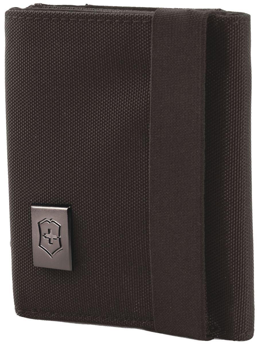 Бумажник Victorinox Lifestyle Accessories 4.0 Tri-Fold Wallet, цвет: черный, 6 л31172401Коллекция Lifestyle Accessories 4.0 включает в себя широкий ассортимент решений для путешествий и повседневной жизни.Независимо от пункта назначения данные высокопрактичные аксессуары станут важнейшей составляющей вашей поездки. VICTORINOX арт. 31172401 БУМАЖНИК 9x3x10 см 0,07 кг • Прекрасно подходит для удобного и безопасного хранения наличных и кредитных карт • Включает отделение для купюр, специальные карманы для карточек и карман из микросетчатого материала для удостоверения личности • Благодаря эластичной ленте бумажник всегда надежно закрыт
