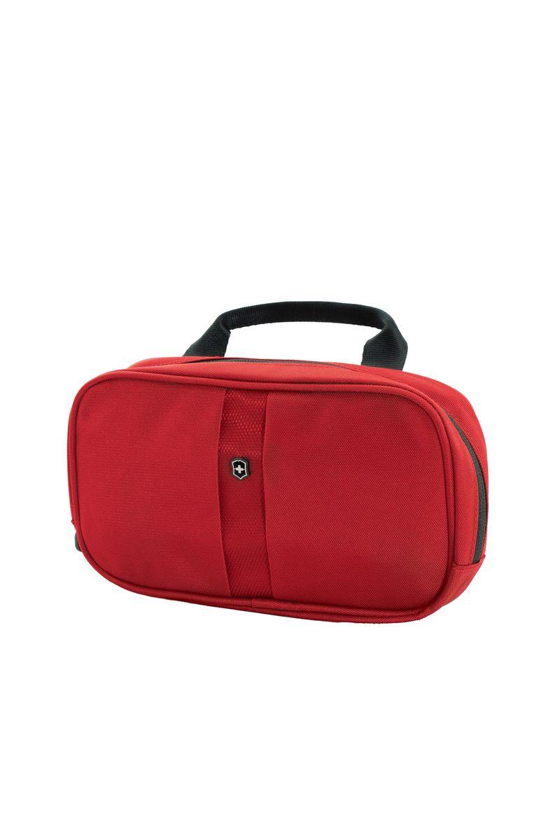 Несессер Victorinox Lifestyle Accessories 4.0 Overmight Essentials Kit, цвет: красный, 1 л31173103Коллекция Lifestyle Accessories 4.0 включает в себя широкий ассортимент решений для путешествий и повседневной жизни.Независимо от пункта назначения данные высокопрактичные аксессуары станут важнейшей составляющей вашей поездки. VICTORINOX арт. 31173103 НЕСЕССЕР 23x4x13 см 0,14 кг 1 л • Идеально подходит для упорядоченного хранения небольших туалетных принадлежностей • Лёгкая в уходе антибактериальная подкладка • Основное отделение имеет раздельные карманы из микросетчатого материала и карман на молнии