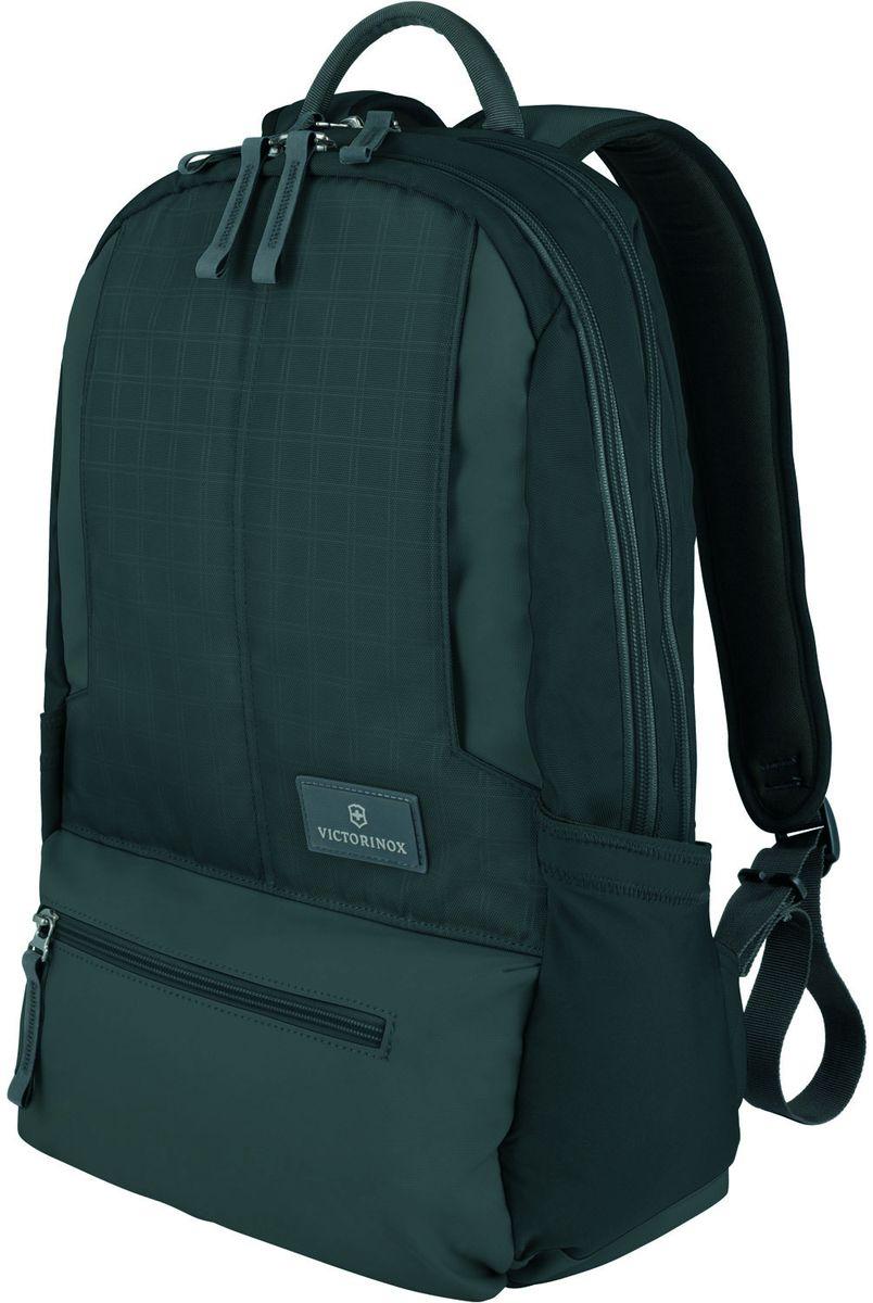 Рюкзак городской Victorinox Altmont 3.0 Laptop Backpack, цвет: черный, 25 л + ПОДАРОК: нож-брелок Escort32388301Индивидуальность — это то,что отличает вас от любого другого человека,с которым вы сталкиваетесь на улице,в поезде,с которым вы общаетесь в городе.Каждый день вашей жизни — это уникальный опыт,котрый никогда больше не повторится.Коллекция Almont 3.0 создавалась с рачетом на индивидульность. VICTORINOX арт. 32388301 РЮКЗАК ДЛЯ НОУТБУКА 32x17x46 см 0,7 кг 25 л • Идеально приспособленный для ежедневных поездок на работу, этот прочный вместительный рюкзак прекрасно подойдёт для хранения ноутбука и других повседневных вещей • Внутренняя организационная секция включает в себя карман с откидной крышкой, петли для ручек, карман для небольших электронных устройств и карманы для хранения • На внешней части рюкзака расположены две застежки-молнии, обеспечивающие быстрый доступ для хранения мелких предметов, и многофункциональные растягивающиеся боковые карманы