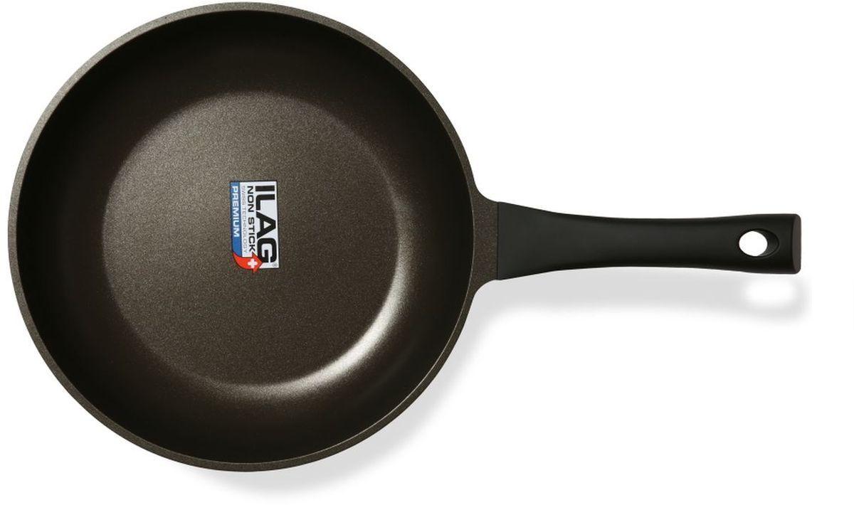 Сковорода Dosh l Home PERSEUS. Диаметр 28 см200153Прочная литая алюминиевая (алюминий стандарта EN601) сковорода для приготовления пищи на плите, с отличным трехслойным швейцарским антипригарным покрытием (ILAG premium). Дно из нержавеющей стали по всей поверхности; подходит для всех типов плит, включая индукционные плиты. Бакелитовая ручка сковороды (выдерживает 150 °С) с черным покрытием soft touch. Сковорода имеет диаметр 28см, высота стенки 5,5 см, толщина стенки 1,7 мм+ -5%, дно 6мм + -5%. Можно мыть в посудомоечной машине.
