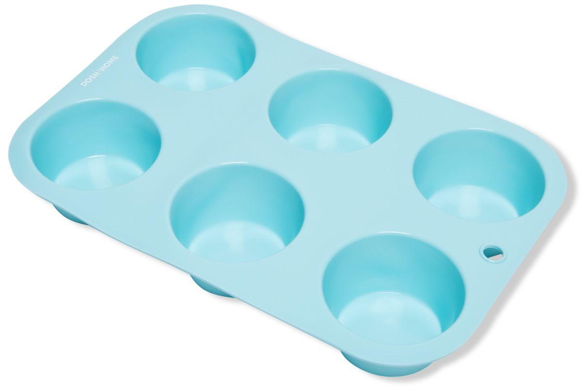 Форма для выпечки мини-кексов Dosh l Home PAVO, 6 ячеек300256Отлично подходит для приготовления сладких и соленых блюд. Форма предотвращает пригорание, поэтому по окончании выпекания продукт легко вынимается из формы. Изготовлено из термостойкого силикона высокого качества. Выдерживает температуру до 230 °C. Форму легко чистить, она не занимает много места. Форма подходит для приготовления пищи в газовых, электрических и конвекторных печах, можно мыть в посудомоечной машине.