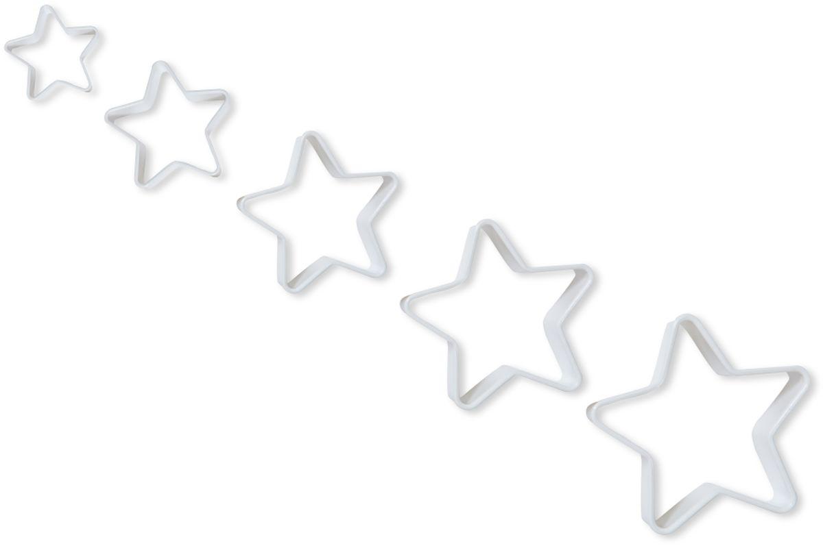Формочки для вырезания печенья Dosh l Home PAVO, 5 шт300271Прекрасно подходят для легкого вырезания печенья 5 разных размеров из песочного, пряничного теста и теста для печенья. Изготовлены из высококачественного пластика.