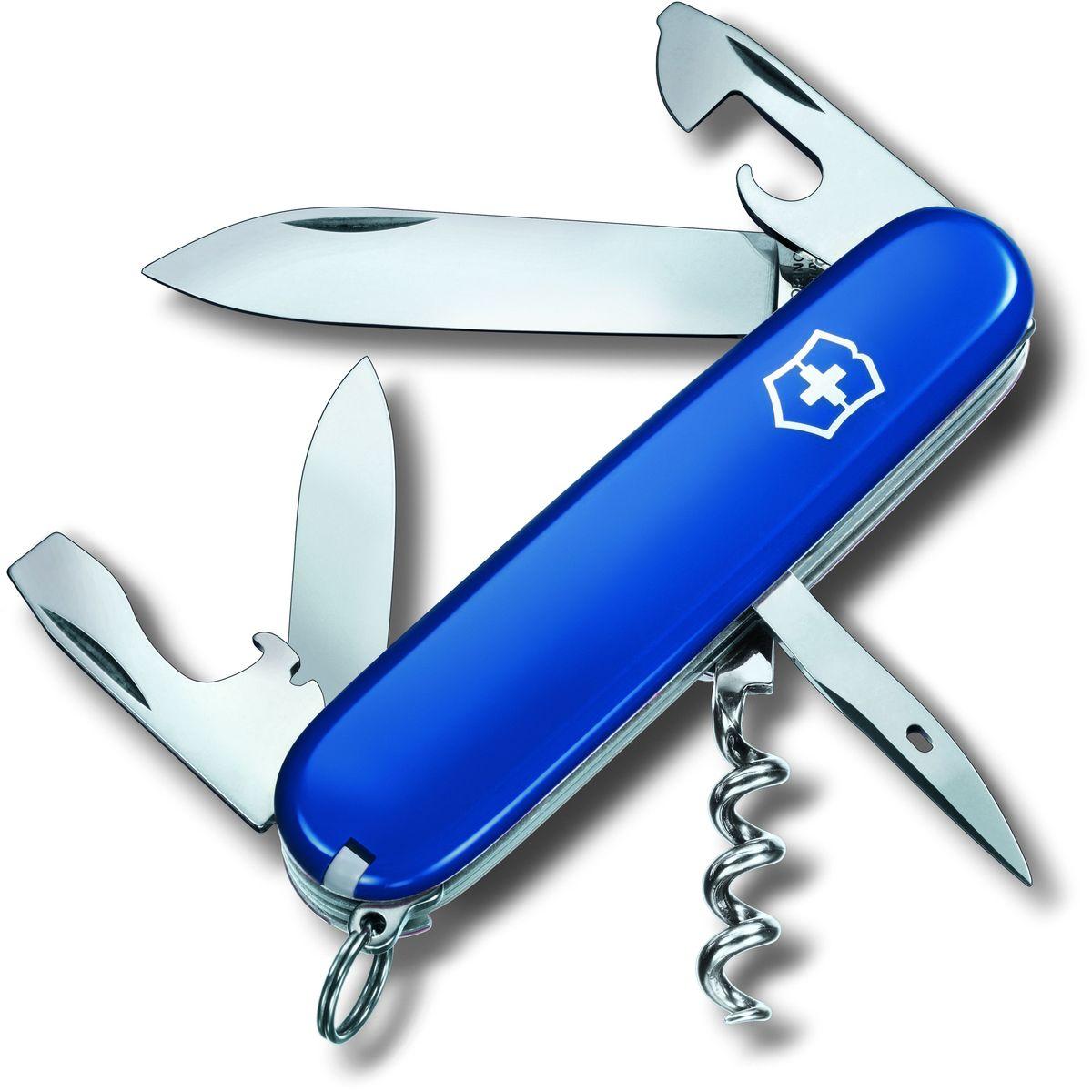 Нож перочинный Victorinox Spartan, 12 функций, цвет: синий, длина клинка 68 мм1.3603.2Маленький красный карманный нож с эмблемой креста на щите на рукояти — самый узнаваемый символ компании Victorinox.В 1897 году основатель компани Карл Эльзенер разработал первый «Швейцарский армейский нож».Более 130 лет компания Victorinox разрабатывает продукты,которые не просто уникальны по дизайну и качеству,но и способны стать верными спутниками по жизни как для великих,так и для небольших приключений. VICTORINOX Арт. 1.3603.2 Швейцарский армейский нож SPARTAN имеет 12 функций: 1. Большое лезвие 2. Малое лезвие 3. Штопор 4. Консервный нож с: 5. – Малой отвёрткой 6. Открывалка для бутылок с: 7. – Отвёрткой 8. – Инструментом для снятия изоляции 9. Шило, кернер 10. Кольцо для ключей 11. Пинцет 12. Зубочистка Цвет рукояти:синий Рекомендуемые чехлы: 4.0480.1, 4.0480.3, 4.0520.1, 4.0520.3, 4.0520.31, 4.0543.3, 4.0736 Рекомендуемые аксессуары: Инструмент для заточки: 4.3311, 4.3323, 4.0567.32 Держатели на ремень: 4.1853, 4.1858, 4.1859, 4.1860 Цепочки длинные: 4.1813, 4.1814, 4.1815...