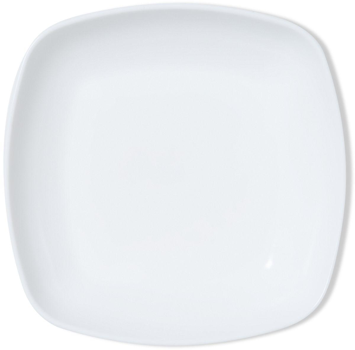 Тарелка глубокая Dosh l Home ADARA, квадратная, 23 см400202Элегантные тарелки для стильной сервировки блюд и закусок. Изготовлены из высококачественного силикона белоснежного цвета. Силикон не впитывает запах и вкус продуктов, устойчив к царапинам. Подходит для микроволновой печи, холодильника. Можно мыть в посудомоечной машине. Мыть обычными моющими средствами, не использовать агрессивные вещества, металлические мочалки, острые предметы и т.д..