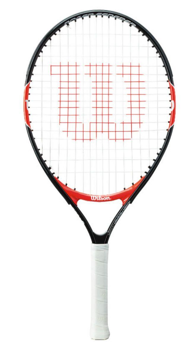 Ракетка теннисная детская Wilson Roger Federer 23WRT200700Ракетка Wilson Roger Federer 23 рассчитан на юных спортсменов 7-8 лет и ростом 120-130 см. Чаще всего детские ракетки для большого тенниса делают из алюминия. Это происходит по двум причинам: инвентарь получается легким по весу и его стоимость не выходит за разумные пределы.