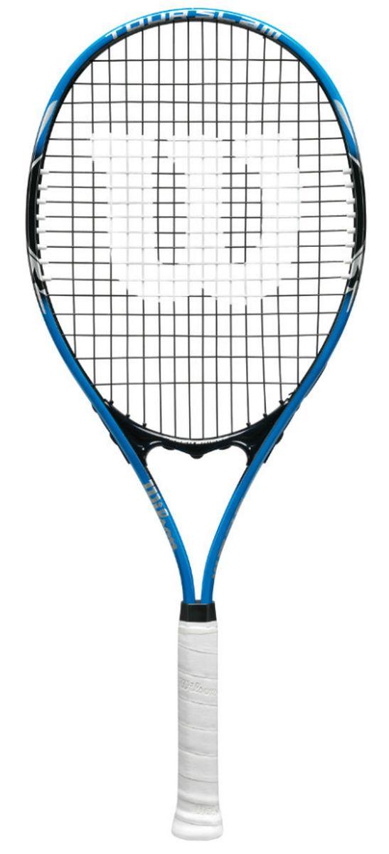 Ракетка теннисная Wilson Tour Slam, ручка 3WRT30200U3Теннисная ракетка для спортсменов начального уровня. Увеличенная длина ракетки и большая игровая зона позволят доставать сложные удары соперника и исполнять точнее свои удары.