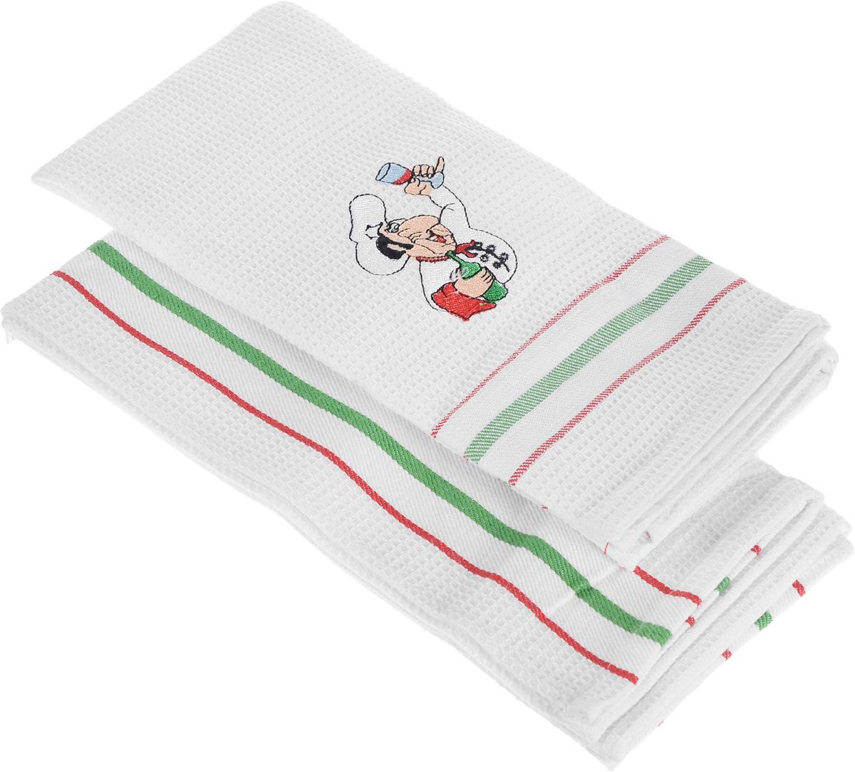 Набор кухонных полотенец Bon Appetit Italy. Towel, цвет: красный, 2 шт48980Кухонные полотенца Bon Appetit Italy. Towel идеально дополнят интерьер вашей кухни и создадут атмосферу уюта и комфорта. Полотенца выполнены из натурального 100% хлопка, поэтому являются экологически чистыми. Качество материала гарантирует безопасность не только взрослых, но и самых маленьких членов семьи. Размер полотенца: 40 х 60 см. В комплекте: 2 полотенца.