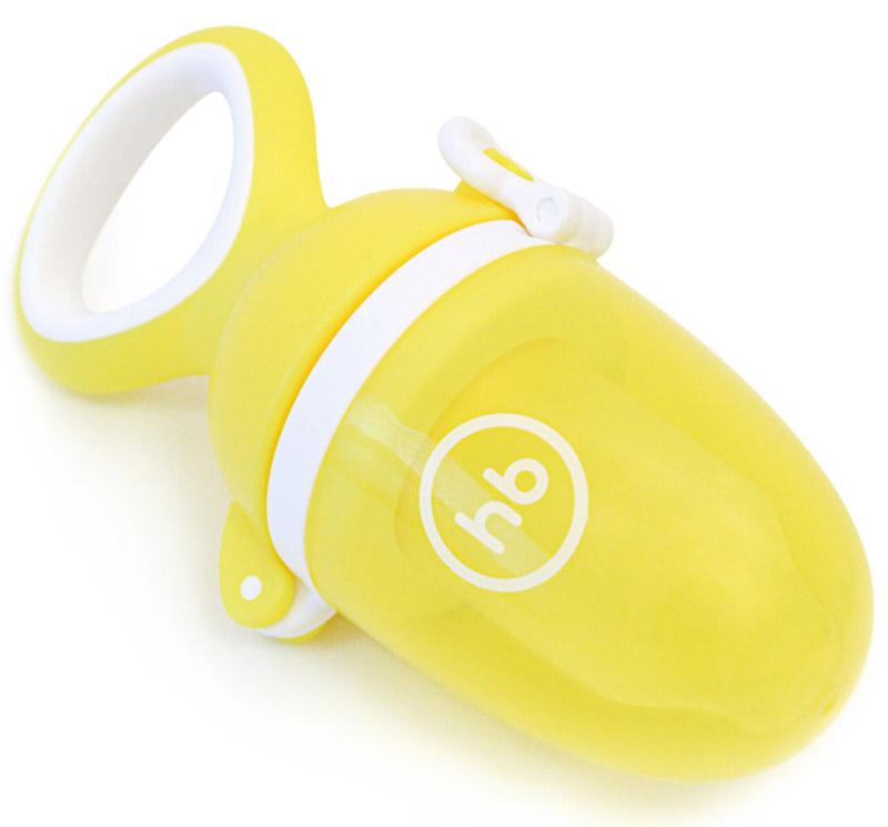 Happy Baby Ниблер силиконовый Nibbler Twist цвет желтый