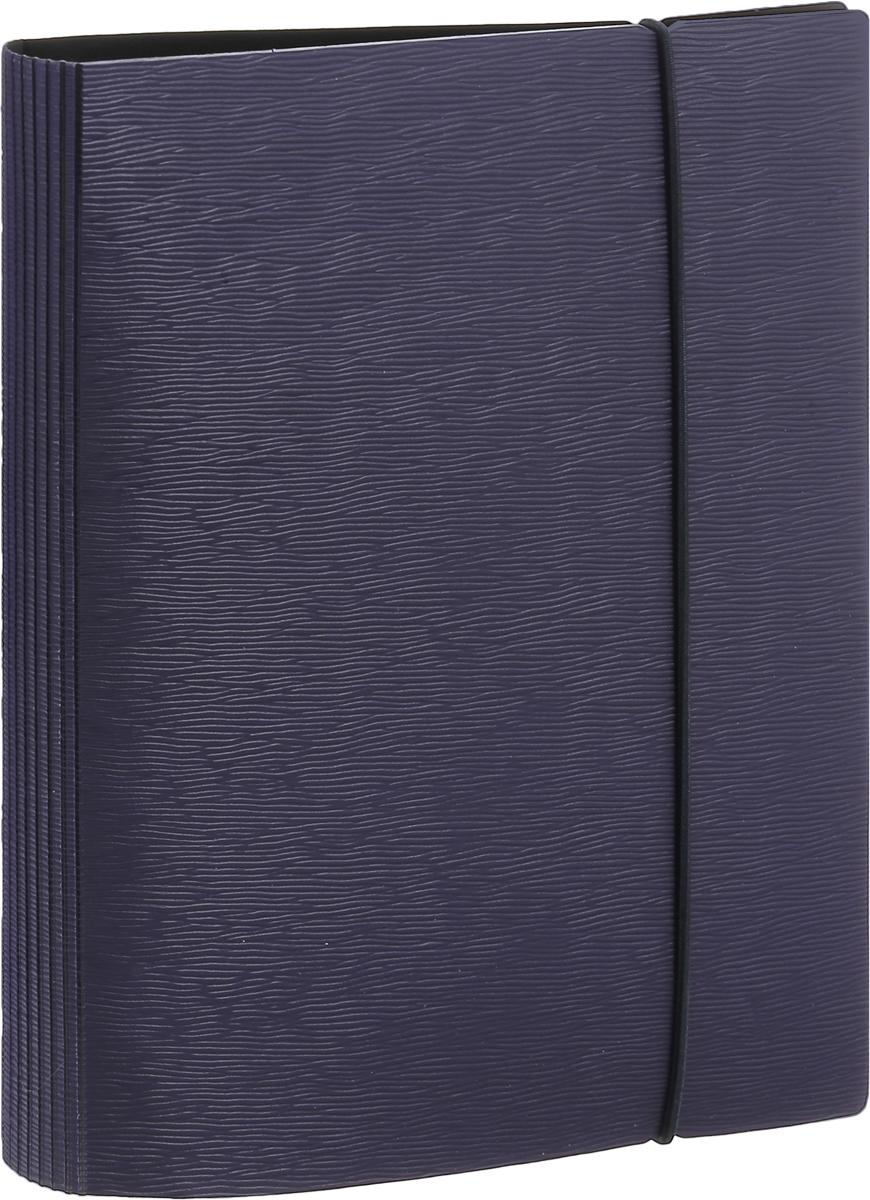 Тетрадь 120л А5ф на 4 х кольцах Пластиковая обложка на резинке WOOD Фиолетовая120ТК5Bр1_02220