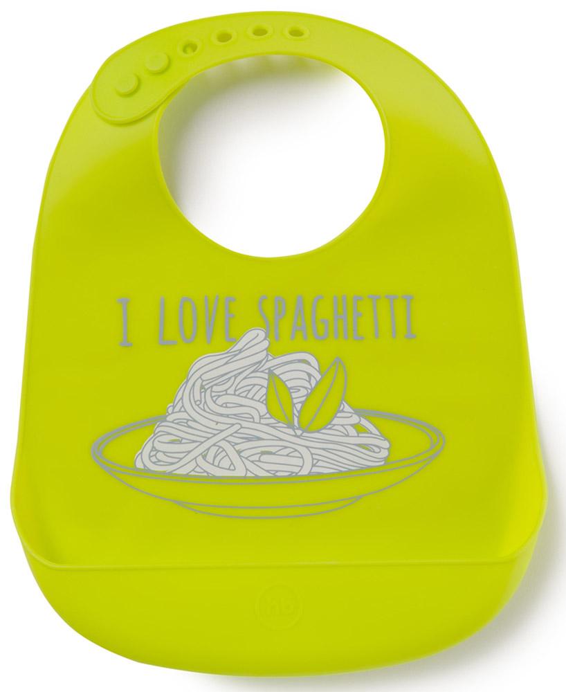 Happy Baby Нагрудник Bib Pocket цвет салатовый