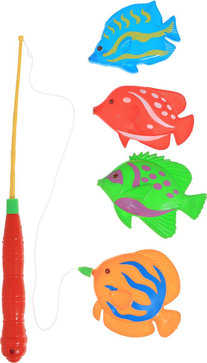 Играем вместе Игрушка для ванной Рыбалка Маша и Медведь цвет удочки красный желтыйB526466-R2_красныйИгрушка для ванной Играем вместе Рыбалка. Маша и Медведь - вот это настоящая забава. Половить рыбку вместе с любимыми героями! Теперь процесс купания станет для ребенка еще интереснее: ведь он с Машей и Медведем из полюбившегося всем мультфильма едет на рыбалку. В комплекте вы найдете одну удочку и четыре разноцветных рыбки. Игра отлично подходит для развития мелкой моторики.