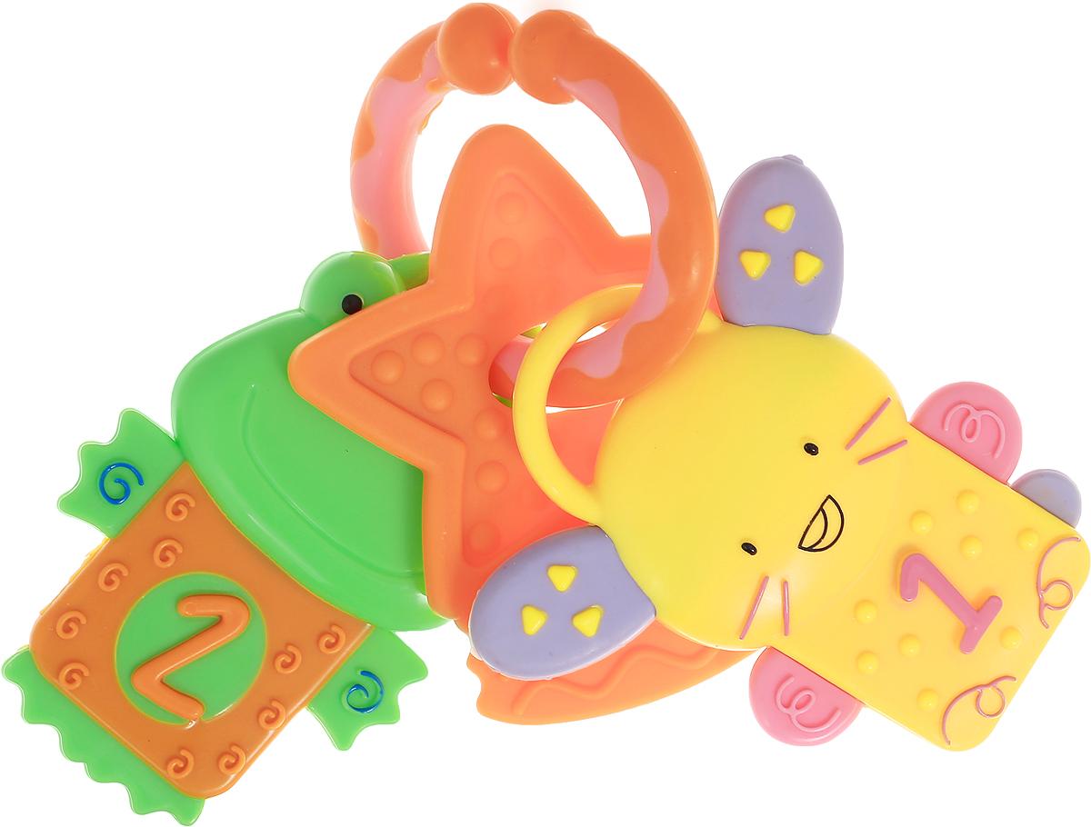 Умка Погремушка-прорезыватель Животные цвет желтый оранжевый зеленыйRN19_оранжевый, желтый, зеленыйПогремушка-прорезыватель Умка Животные выполнена из прочного и безопасного материала, окрашена с помощью пищевых красителей и прошла тщательный контроль качества, чтобы в нее могли играть даже самые маленькие дети. Погремушка представлена в виде незамкнутого кольца, на котором находятся 3 пластиковые подвески. Подвески снимаются с кольца. Игрушка будет издавать забавный шорох, если ее потрясти. Такая погремушка с рельефными прорезывателями будет полезна в семье, где недавно появился малыш, она поможет ему справиться с неприятными ощущениями в полости рта во время роста зубов. Погремушка обязательно привлечет внимание ребенка, а приятные материалы, из которых изготовлена игрушка, и издаваемые ей звуки побудят его изучать, исследовать и развиваться.