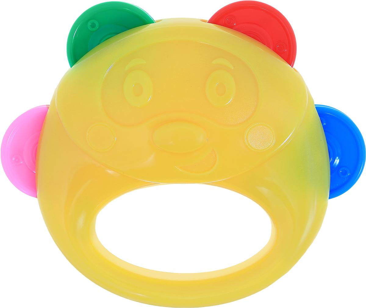 Stellar Бубен цвет желтый оранжевый1914_желтый, оранжевыйБубен Stellar - это один из самых первых инструментов, который идеально подойдет для ребенка. Музыкальный бубен - яркий ударный инструмент, по которому ребенок может ударять ладошкой, а также трясти его в ручке. Бубен выполнен из прочного материала и имеет 4 пары разноцветных дисков, которые при движении издают приятный звук. Бубен в виде симпатичного медвежонка поможет ребенку развить слух и чувство ритма. Мальчики и девочки смогут аккомпанировать себе во время пения или отбивать ритм, исполняя искрометный танец.