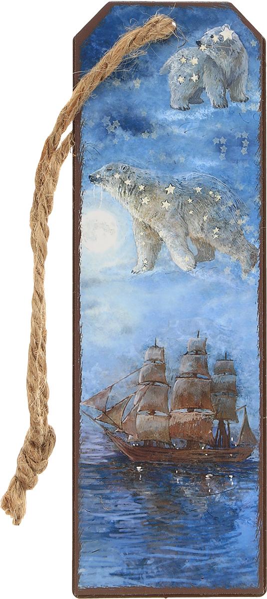 Magic Home Закладка декоративная для книг Большая медведица43573Декоративная закладка для книг Magic Home Большая медведица - великолепный подарок для тех, кто не мыслит свою жизнь без книг. Закладка представляет собой пластину из черного окрашенного металла с текстильным шнурком. Закладка украсит не только книгу, но сделает нарядным и оригинальным стандартный органайзер или семейный альбом.