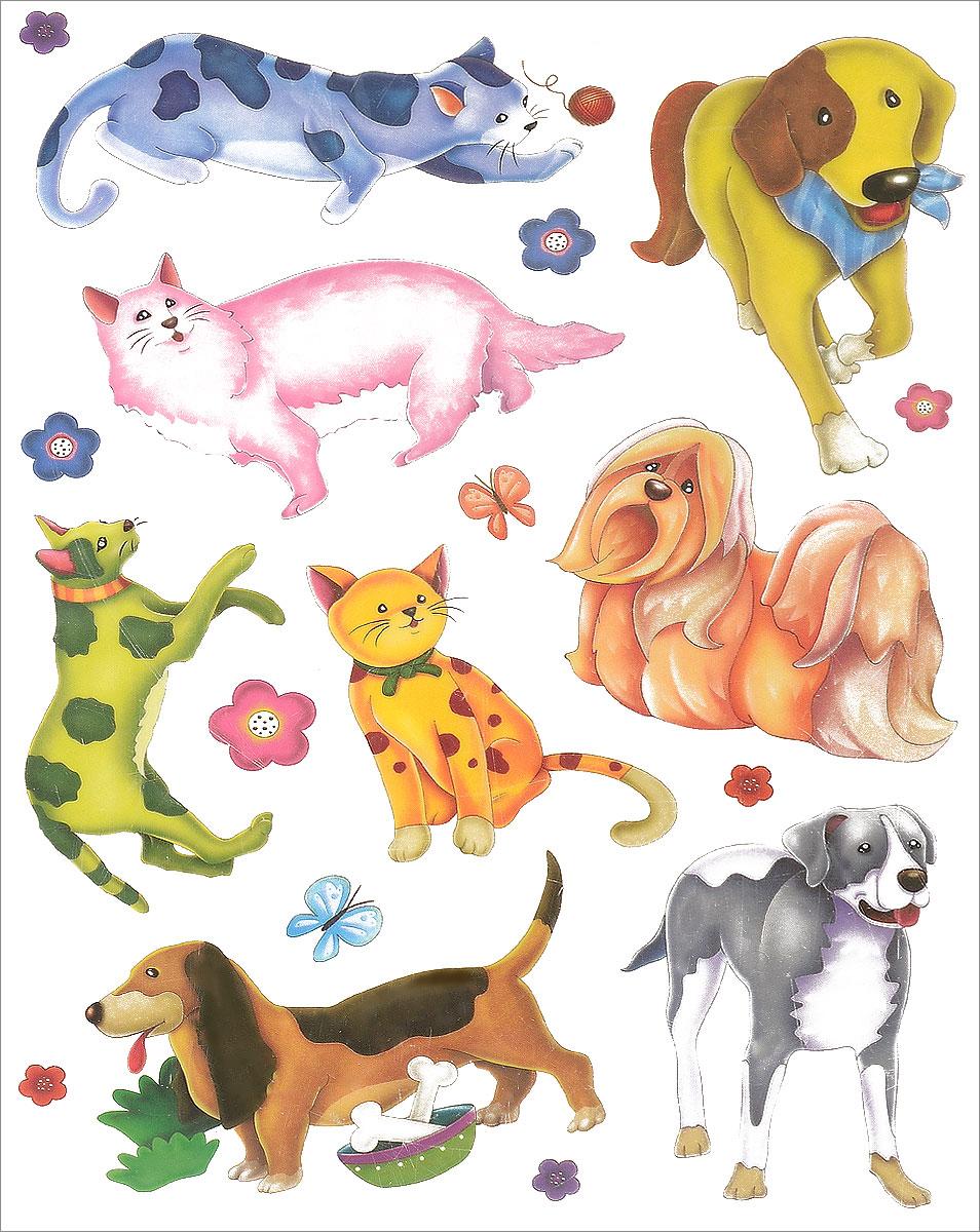 Украшение оконное Проф-Пресс Любимые питомцы. Кошки и собакиН-9677_кошки, собакиОконное украшение Проф-Пресс Любимые питомцы. Кошки и собаки, изготовленное из ПВХ, поможет украсить дом. С помощью этих украшений вы сможете оживить интерьер по своему вкусу: наклеить их на окно, на зеркало. Создайте в своем доме атмосферу тепла, веселья и радости, украшая его всей семьей. Размер листа: 21 х 30 см. Количество наклеек на листе: 11 шт. Размер самой большой наклейки: 12,5 х 8,5 см. Размер самой маленькой наклейки: 2,5 х 2,5 см.