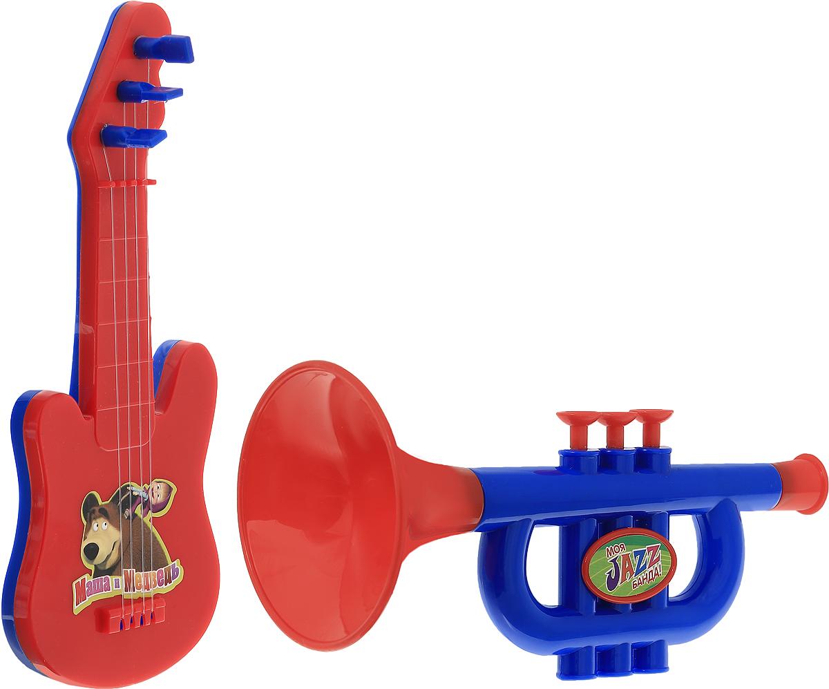 Маша и Медведь Набор музыкальных инструментов Моя Jazz банда 2 предметаGT5847_красная гитараУже с малых лет у детей может начать проявляться интерес к музыке, но настоящие инструменты малышу давать рано, поэтому лучшим решением в этой ситуации послужит набор музыкальных инструментов Маша и Медведь. Труба и гитара - яркие музыкальные игрушки. Юный музыкант сможет с помощью гитары извлекать достаточно мелодичные звуки, пощипывая пальчиками каждую струну отдельно или сразу несколько струн. Игра на музыкальном инструменте способствует развитию координации движений, ловкости, тактильных ощущений, моторики рук, слуха, прививает с детства любовь к музыке. Порадуйте своего малыша таким подарком!